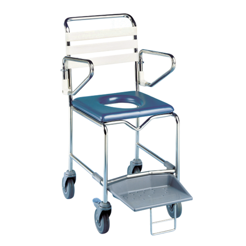 K Care Shower Commode with Platform Footrest