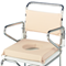 K Care Commode Padded Tie on Closed Seat