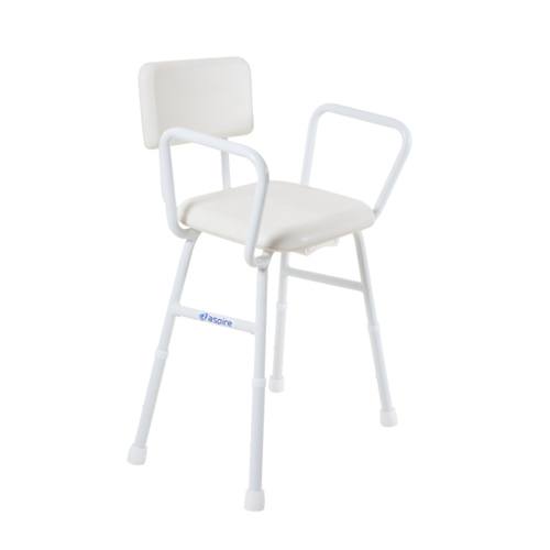 Aspire Shower Stool with Padded Seat & Back
