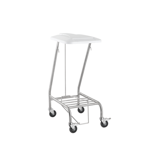 Soiled Linen Trolley - Foot Operated Lid