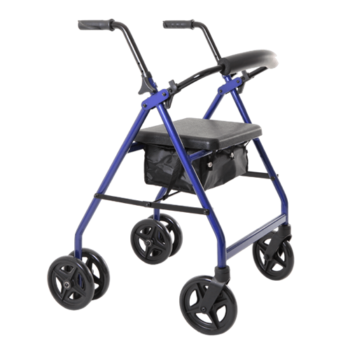 Aspire Push Down Seat Walker / Rollator