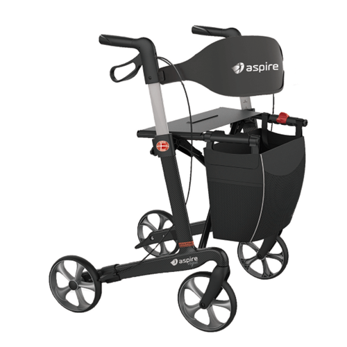 Aspire Vogue Carbon Fibre Seat Walker / Rollator