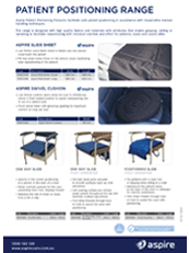 Aspire Patient Positioning Products Flyer