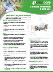 Safe Use Guide - Electrically Adjustable Beds