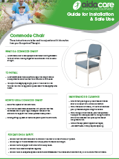 Safe Use Guide - Commode Chair