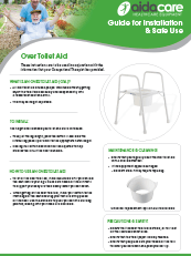 Safe Use Guide - Over Toilet Aid