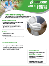 Safe Use Guide - Raised Toilet Seat (RTS)