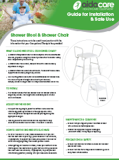 Safe Use Guide - Shower Stool & Chair